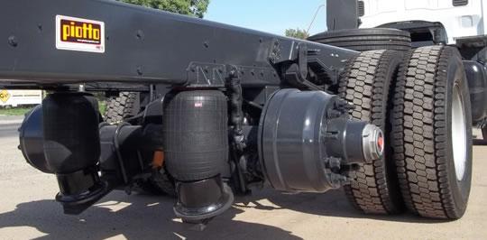 Sistema de suspension neumatica en camiones